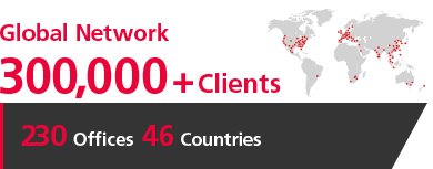 [Global Network] 250,000+ Clients [220 Offices 46 Countries]