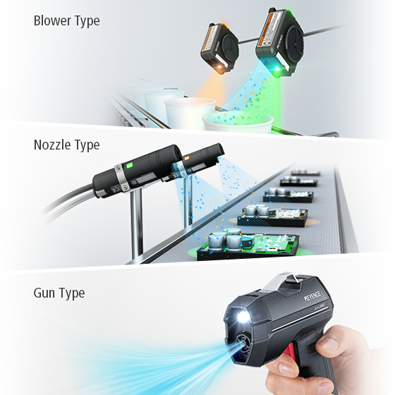 Blower type / Nozzle type / Gun type