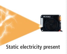 Static electricity present