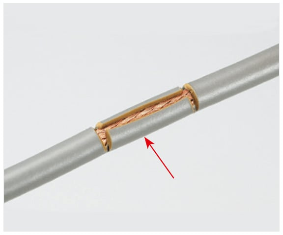 Cutting of electric wire coating